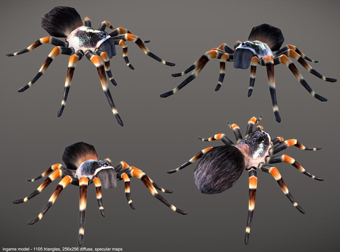 low poly spider