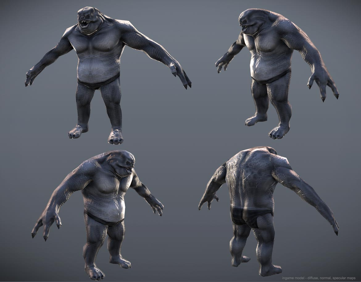 Ogre low poly model