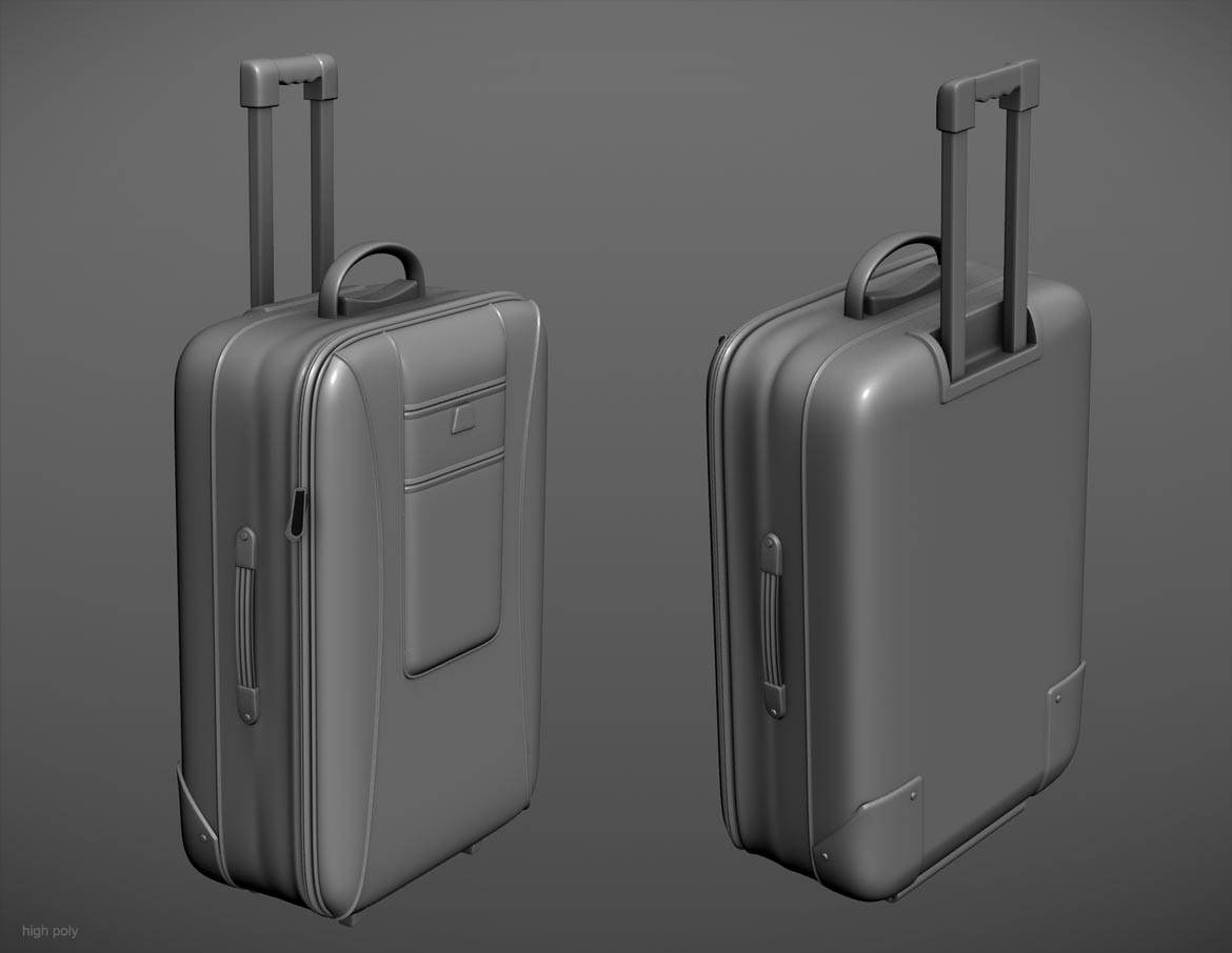 Luggage high-poly model