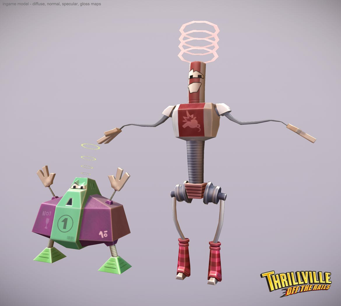 Thrillville: Off the Rails - Robots low poly
